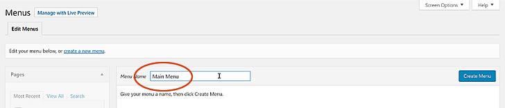 Adding a menu to your website