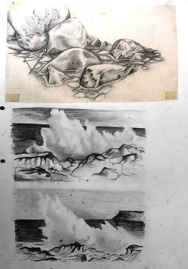 drawings of water - gcse art ideas