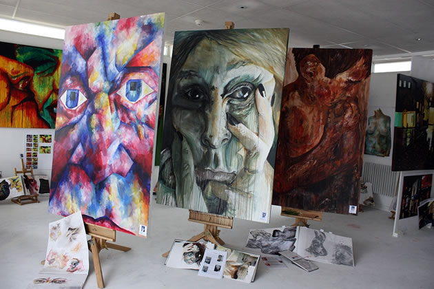 A Level Art gallery