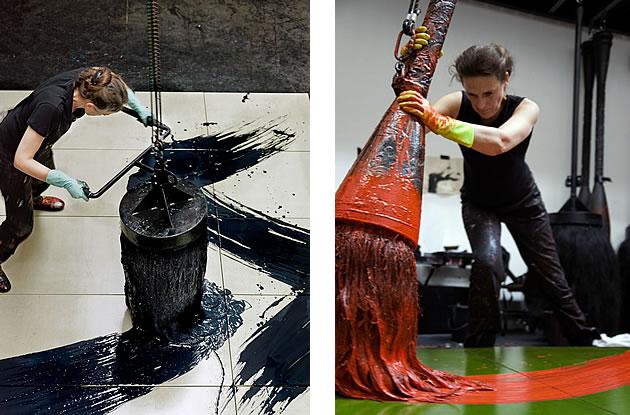 artist fabienne verdier creating a painting