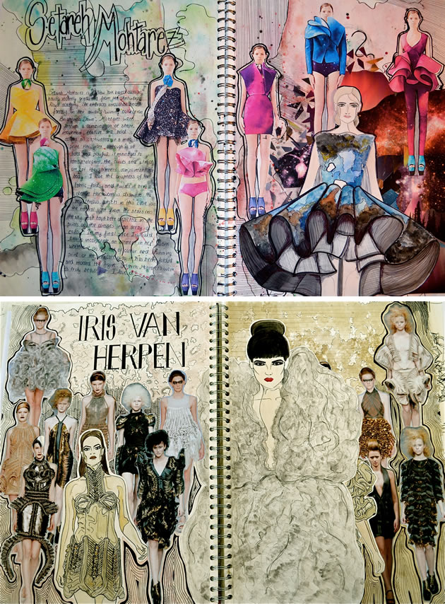 fashion design research pages