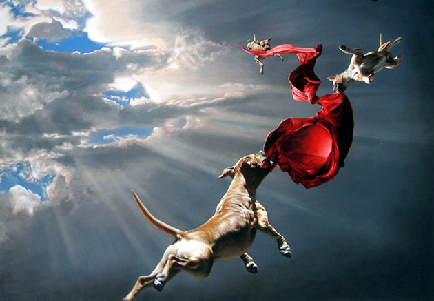 joel rea paintings of dogs