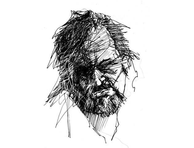 scribble portrait drawing