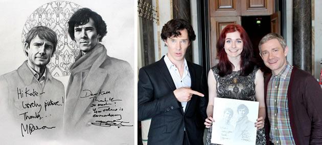Benedict Cumberbatch and Martin Freeman drawing