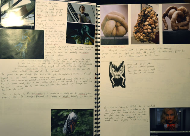 moving image arts sketchbook pages