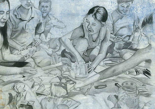 Unhealthy Child Drawing Created Realistic Drawings