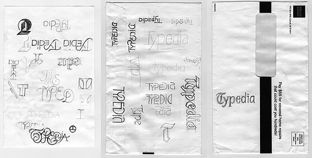 Typedia logo design process