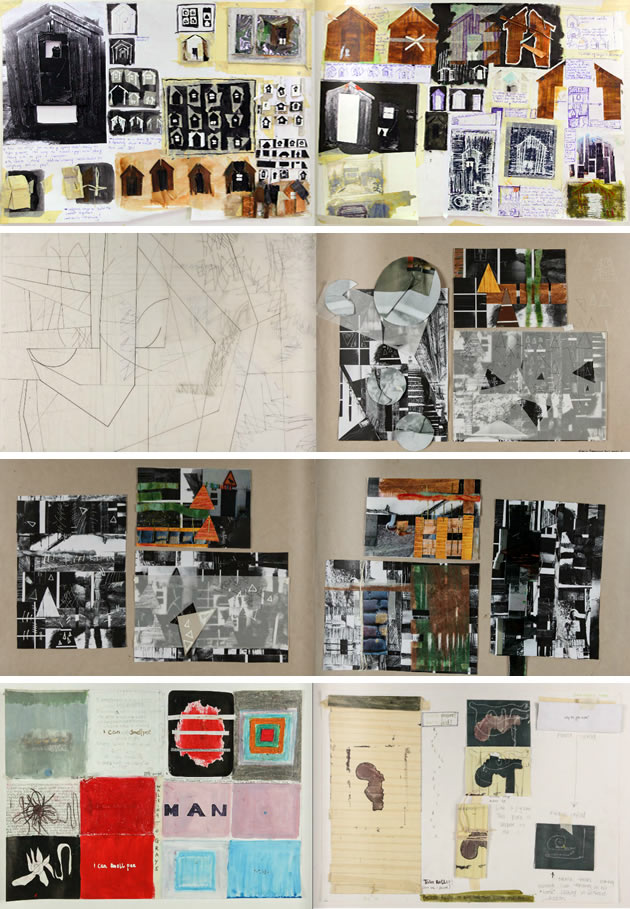 Grays Art School application portfolio