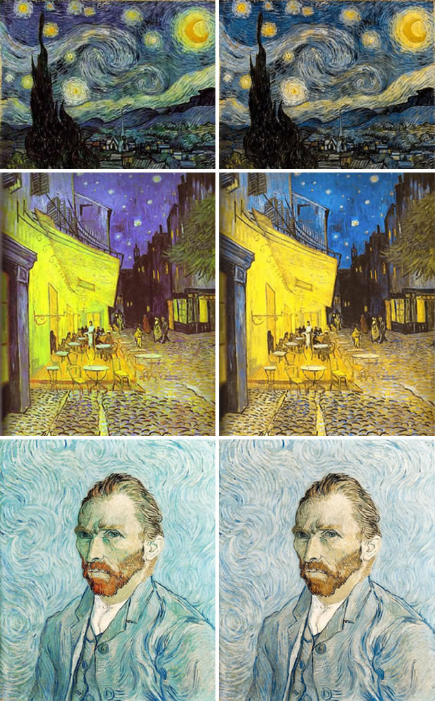 Was van Gogh color blind?
