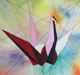 IGCSE Art paper cranes still life
