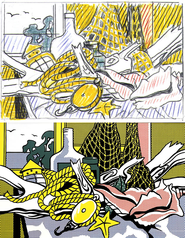 Roy Lichtenstein still life