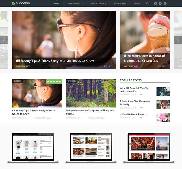 Blogging theme by MyThemeShop