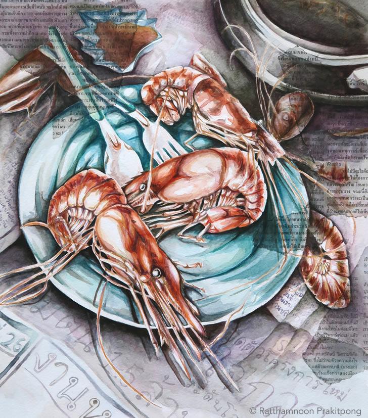 Shrimp: AP Studio Art example