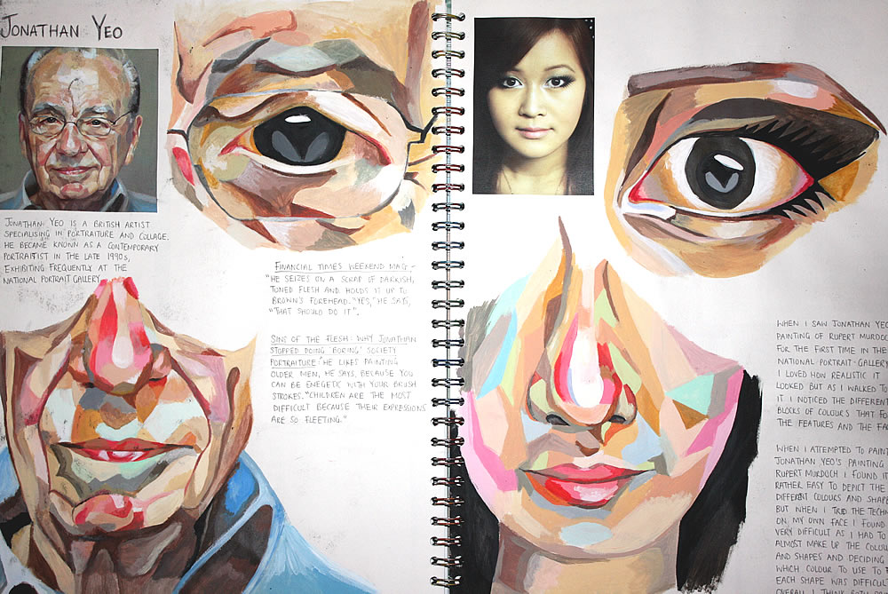 Art Sketchbook Ideas Creative Examples To Inspire High School Students