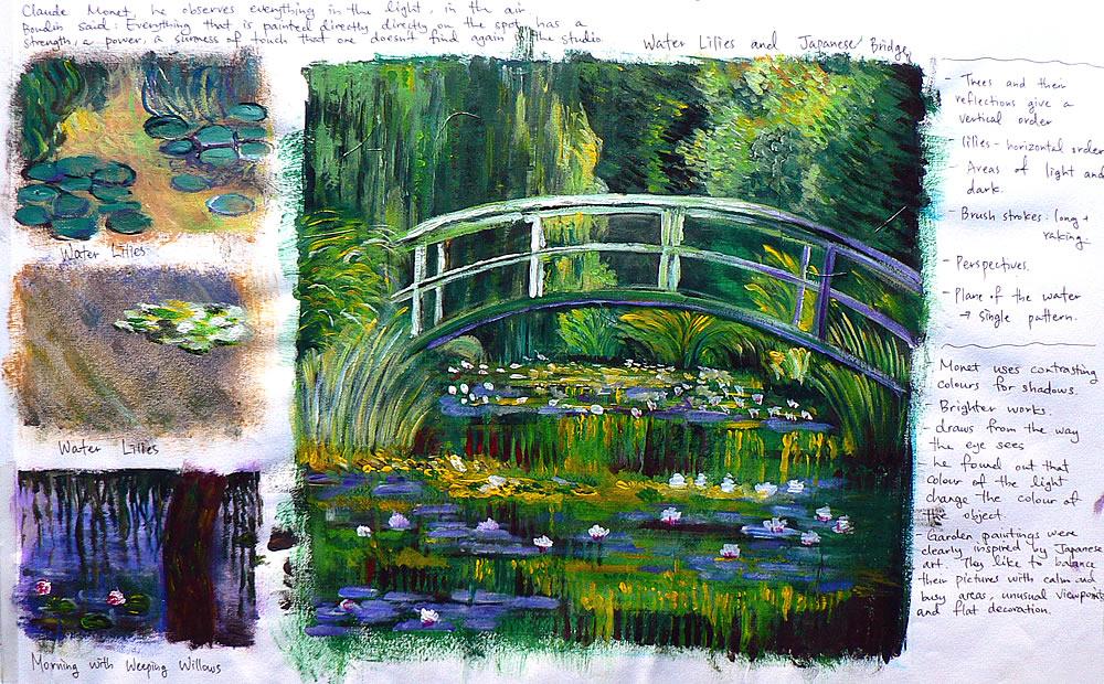 Claude Monet artist study