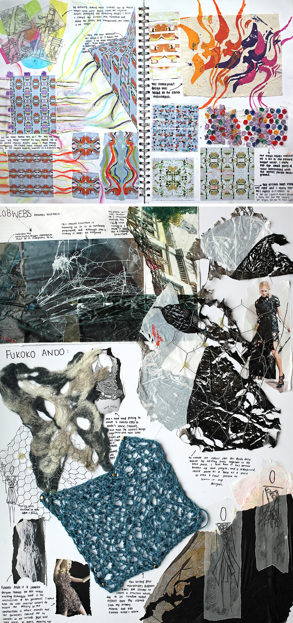 Fashion design sketchbook examples