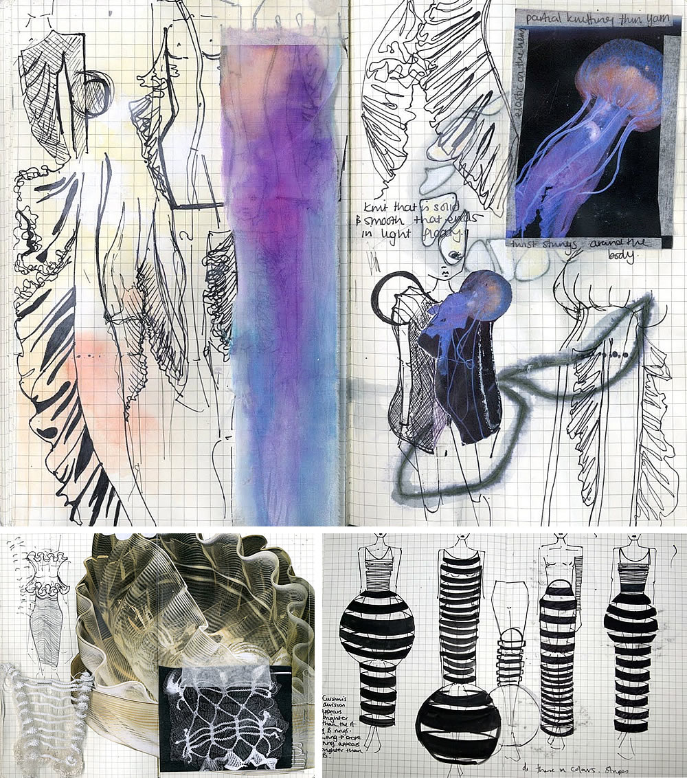 Fashion design sketchbook by Amber Hards
