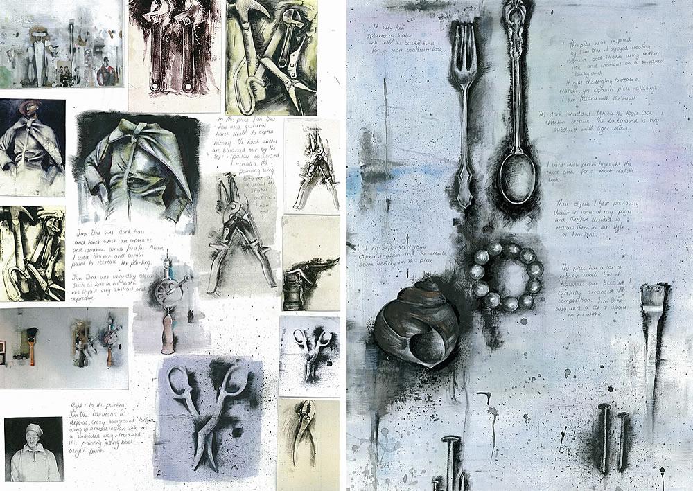 Jim Dine artist study - GCSE