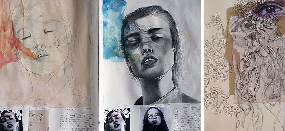 Kate Powell sketchbook pages