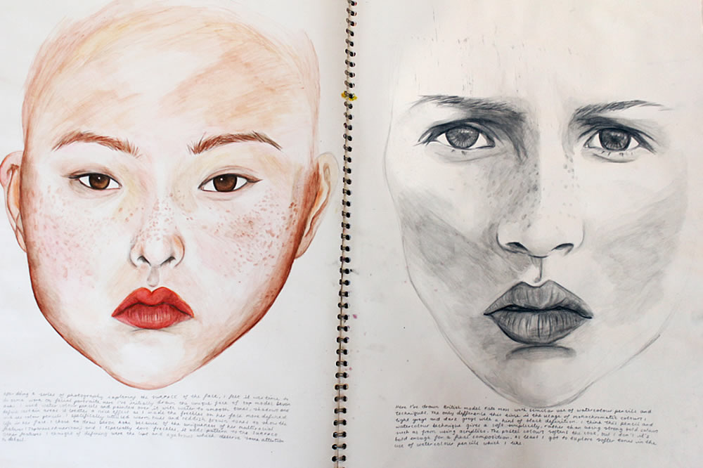 Art sketchbook layout - Robyn Yeang