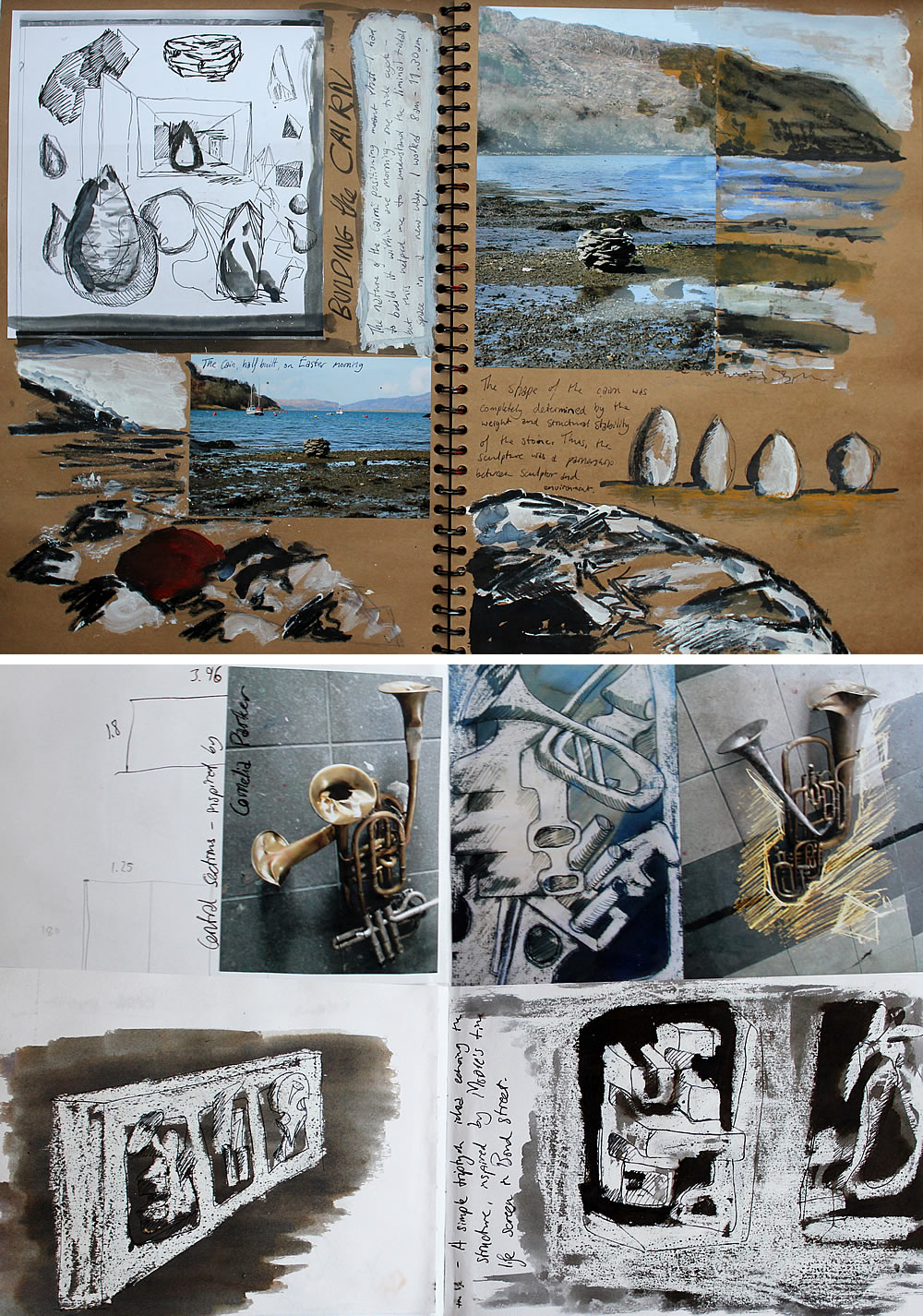 Sculpture sketchbook examples
