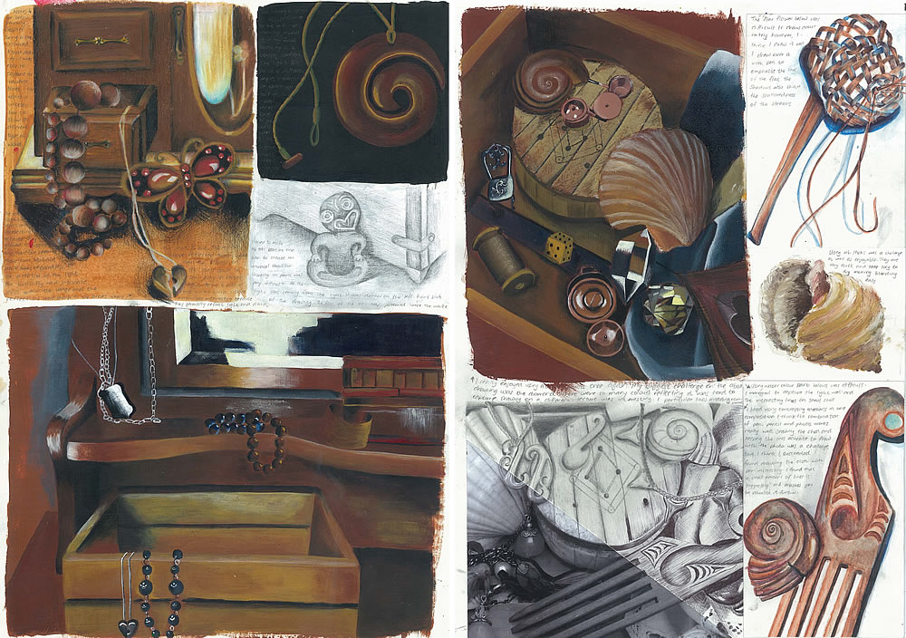 Still life - GCSE sketchbook pages