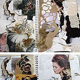 A Level Textiles sketchbook