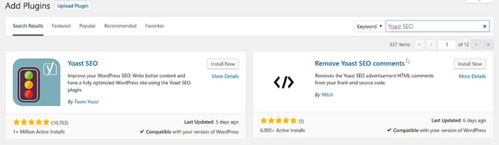 Recommended: Yoast SEO plugin