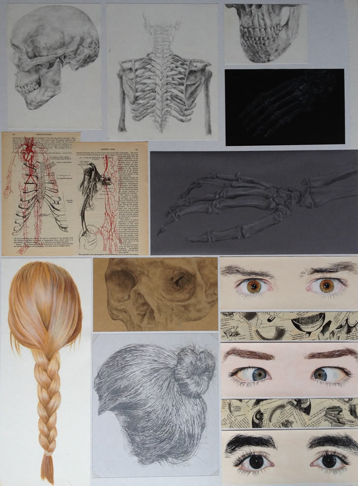 A Level Art: exploration of human form