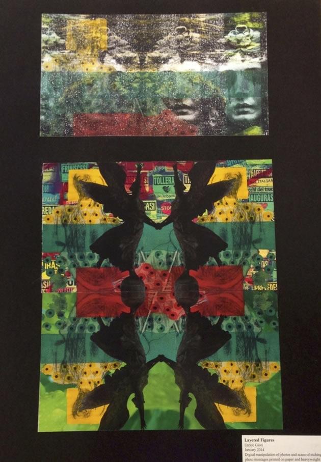 Printmaking: final piece IGCSE Art