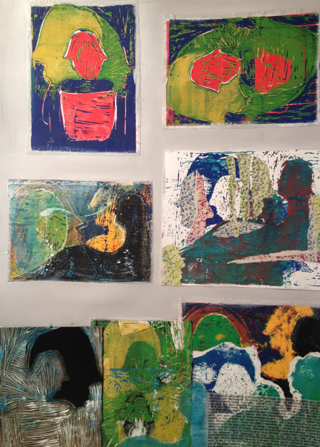 lino prints IGCSE Art