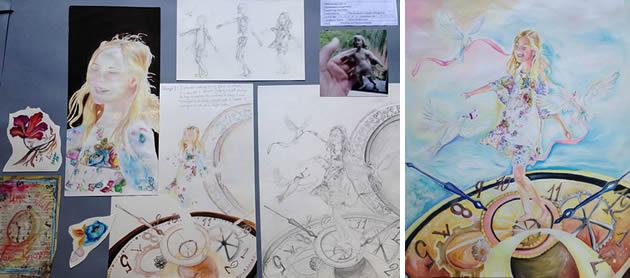 Development of composition: IGCSE Art and Design