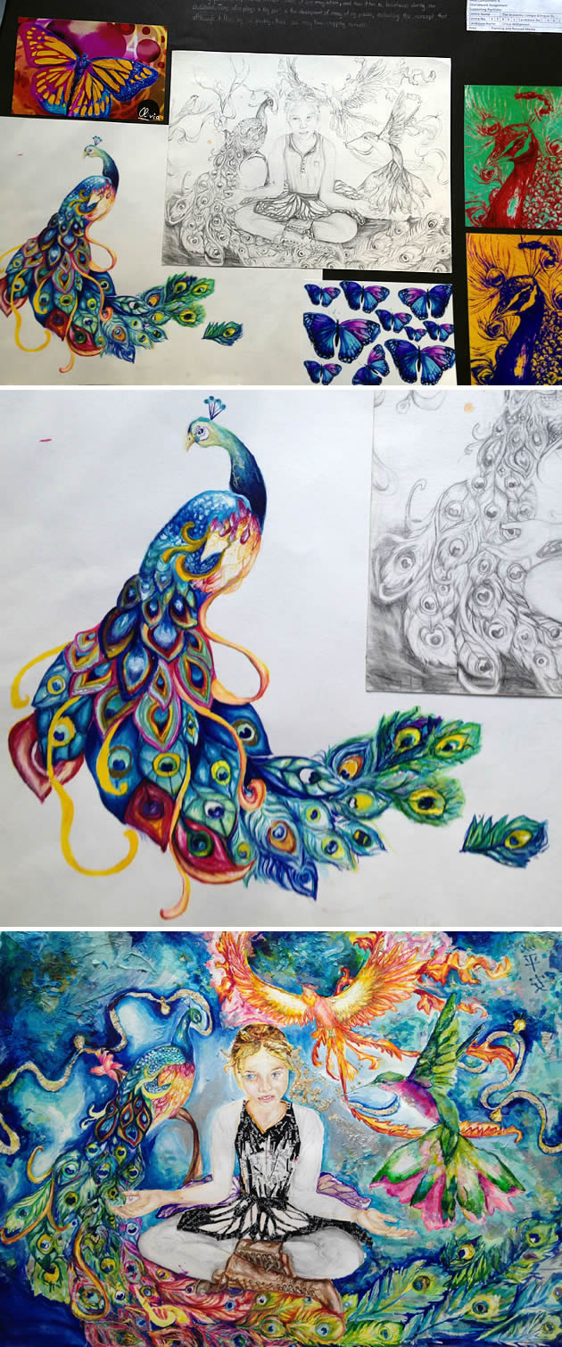 Coursework project - Top in Spain, IGCSE Art and Design