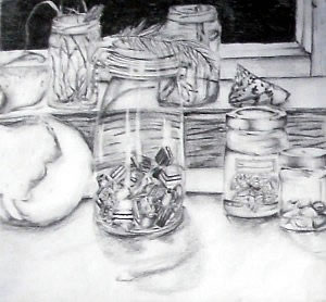graphite drawing created for AS level Art