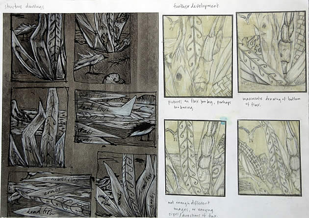 developing composition - gcse art sketchbook work