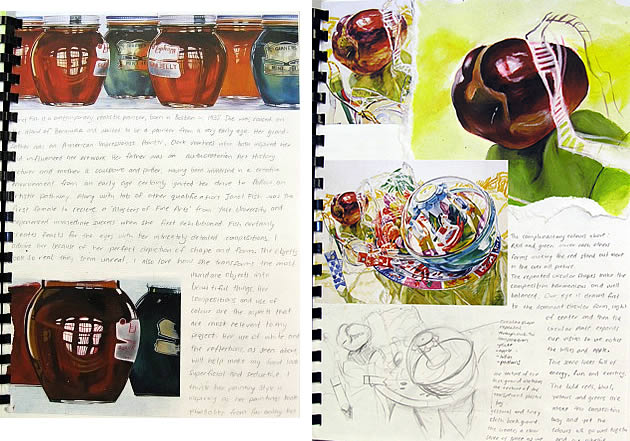a level art sketchbook examples