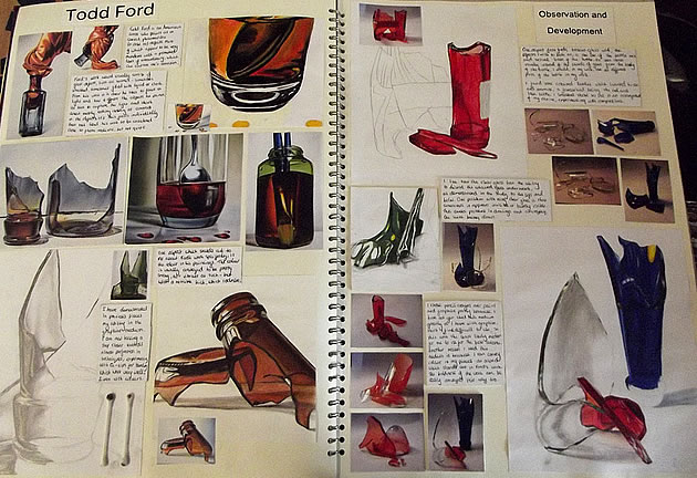 example to help with an A Level Art sketchbook
