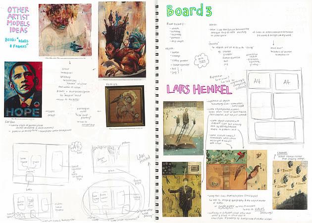 A Level Art Sketchbook Layout