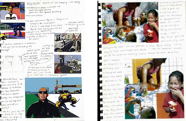 A level art sketchbook pages