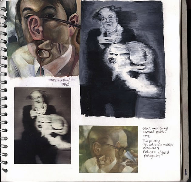 a level fine art sketchbook
