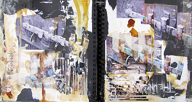 a level mixed media photography sketchbook