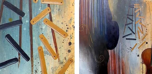 AS art painting - abstraction of instruments