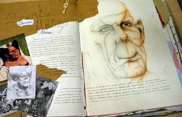 a level art sketchbook