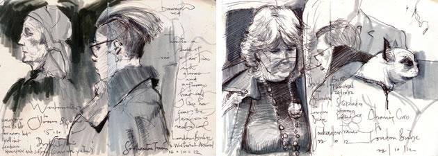 artist sketchbook by Adebanji Alade