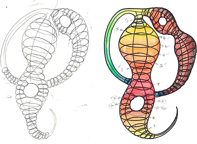 cane sculpture design drawings