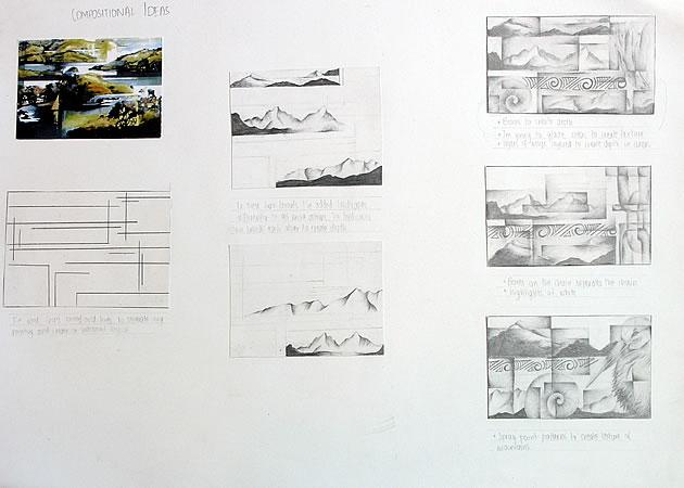 composition development, igcse art and design
