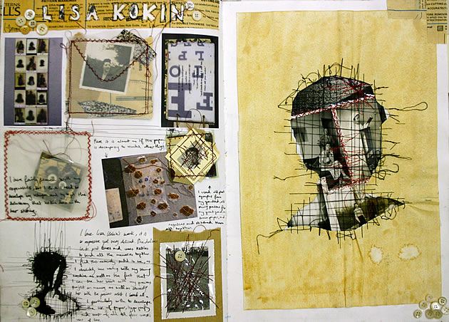mixed media photography sketchbook