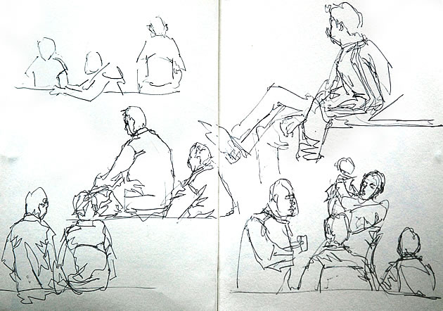 figure drawing using lines