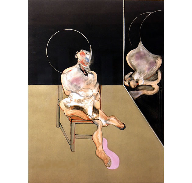 francis bacon painting - distorted figure on a chair