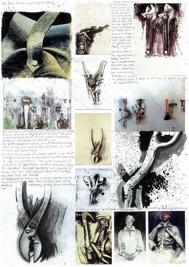 artist analysis of Jim Dine for GCSE Art
